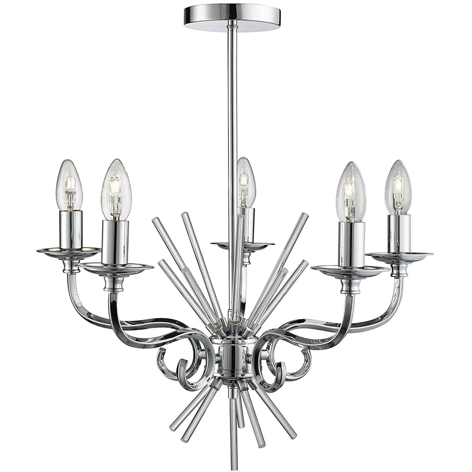 Lighting Collection Chrome Chandelier Ceiling Light