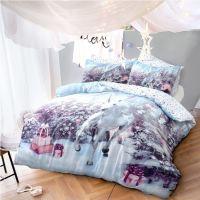 Luxury Unicorn Christmas Kids Xmas Duvet Set Bed Festive ...