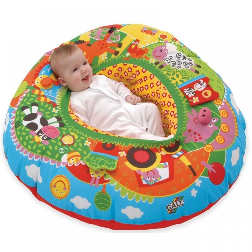 baby blow up ring chair turn into stool galt inflatable playnest farm play toy seat support new | ebay