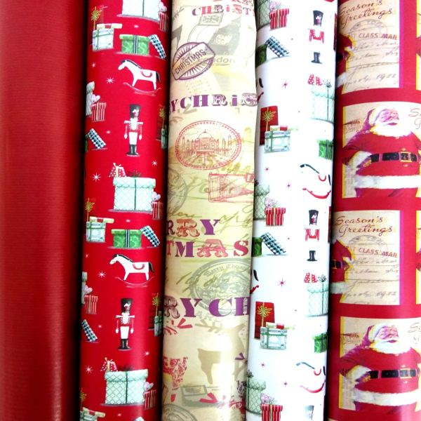 Christmas Foil Wrapping Paper Rolls
