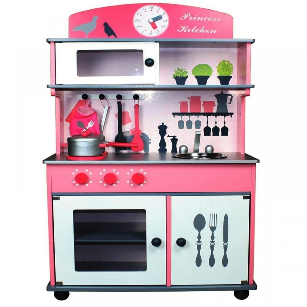 WOODEN KIDS TOY PRETEND KITCHEN PLAYSET CHILDRENS ROLE PLAY COOKER COOKING CAFE  eBay