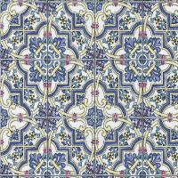 P&S International Baroque Tile Pattern Wallpaper Faux
