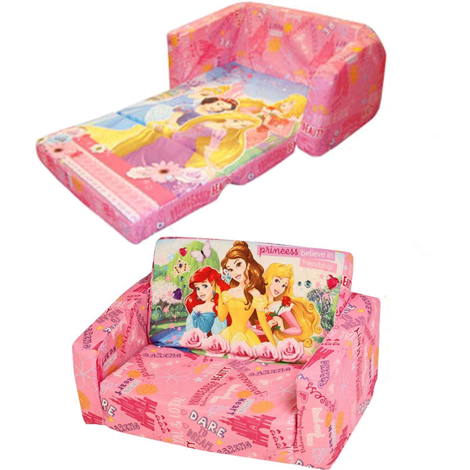 disney princess flip out sofa cheapest double beds childrens foam settee kids