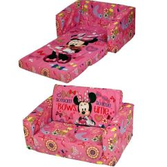 Disney Princess Flip Out Sofa Pull Sleeper Childrens Double Foam Settee Kids