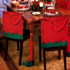 Christmas Chair Back Covers Uk Folding Outdoor Chairs Argos 4 Elf Hat Xmas Table Leg Cover Party Decoration Santa Set 5060394219926 ...
