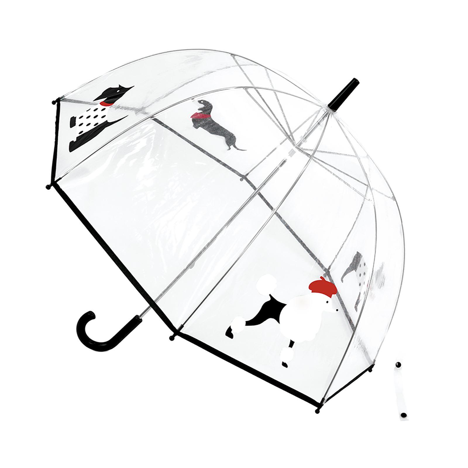 Drizzles Womens Dog Breed Dome Umbrella Manual Walking