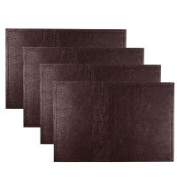 Set Of 4 Faux Leather Placemats / Coasters Dining Table ...