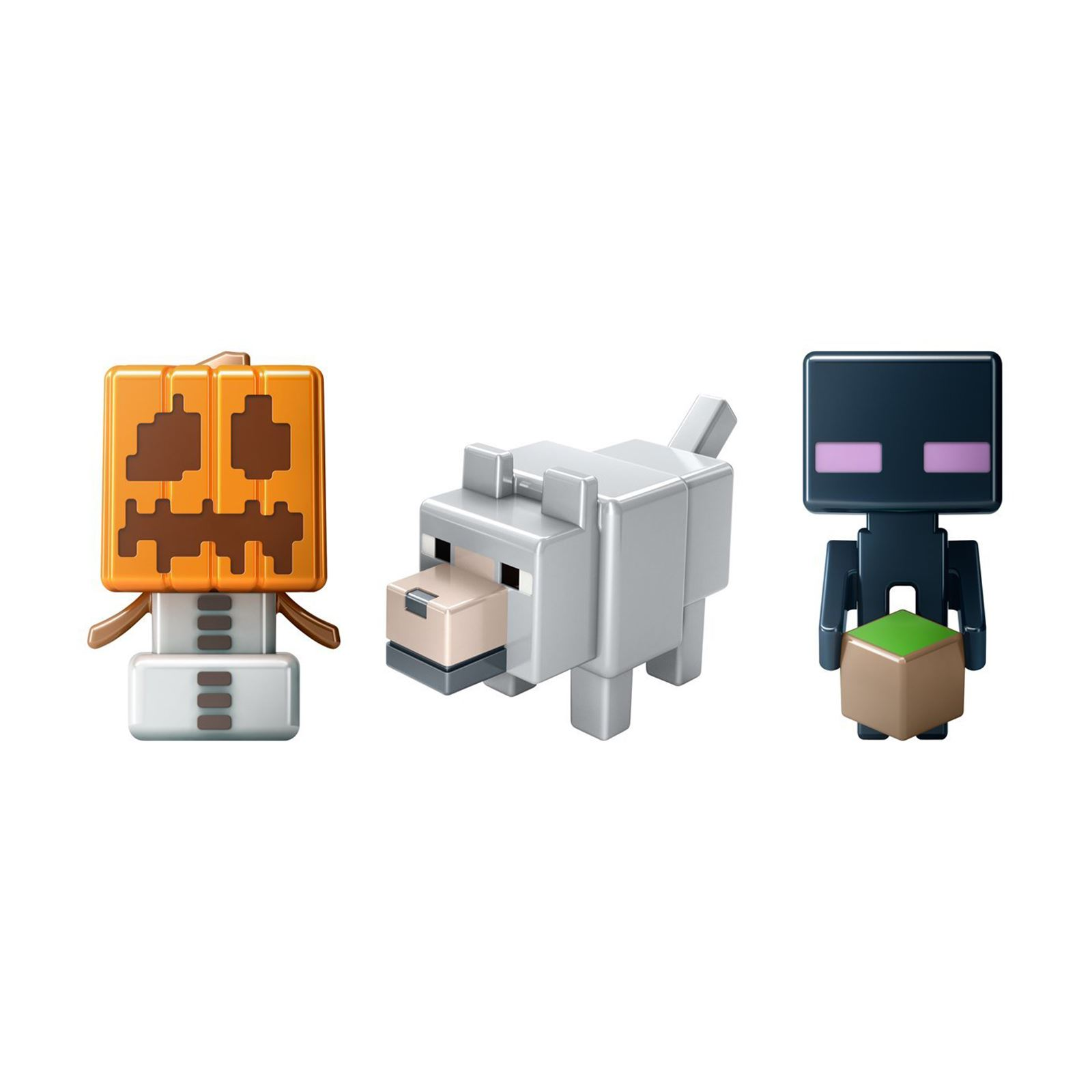 Minecraft Game Pack Of 3 Mini Figures Grass Series 1