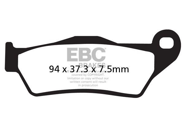 FIT CCM FT 35 S (400cc) (DRZ 400 Motor) 07>09 EBC MOTO-X