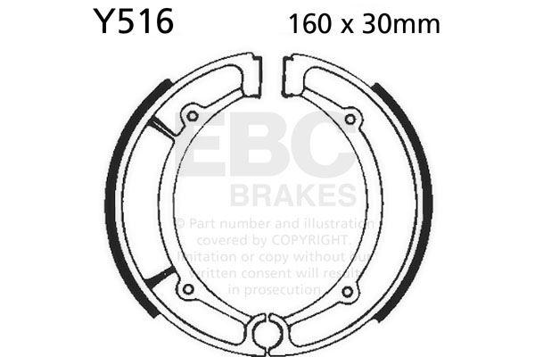 Pour Yamaha YFM 350 L. Big Bear 99 EBC Uni Chaussure