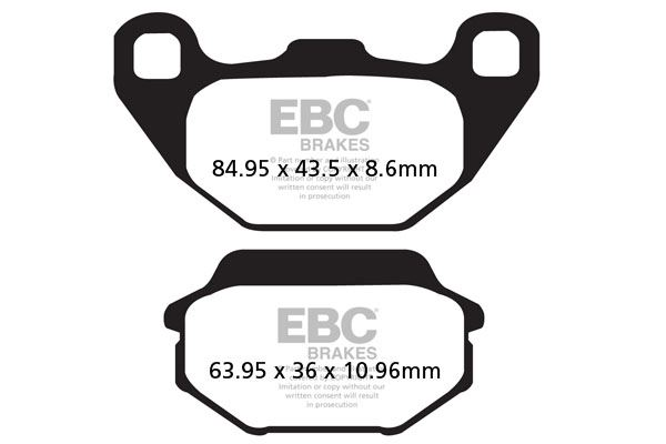 FIT KYMCO MXU 150 05>12 EBC REAR ORGANIC BRAKE PADS