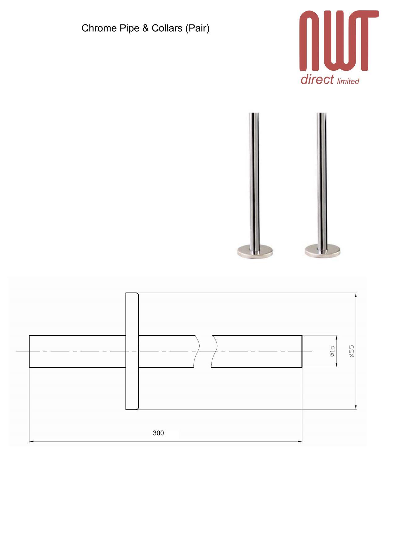 Chrome Pipe Amp Collars Pair For Radiators Towel Rails Valves Accessories