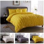 Seville Pleated Duvet Cover Set Bedding Cotton Luxury Bed Linen Quilt Covers Ebay