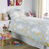 Unicorn Duvet Cover Set, Girls Quilt Cover Unicorn Bedding