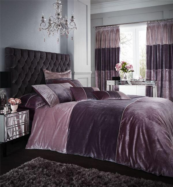 Velvet Bands Duvet Quilt Cover Set Bed Linen Double King