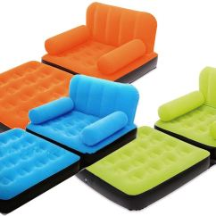 Inflatable Sofa Bed The Range What Color Goes With Light Gray Walls Single Flocked Air Camping Arm Chair