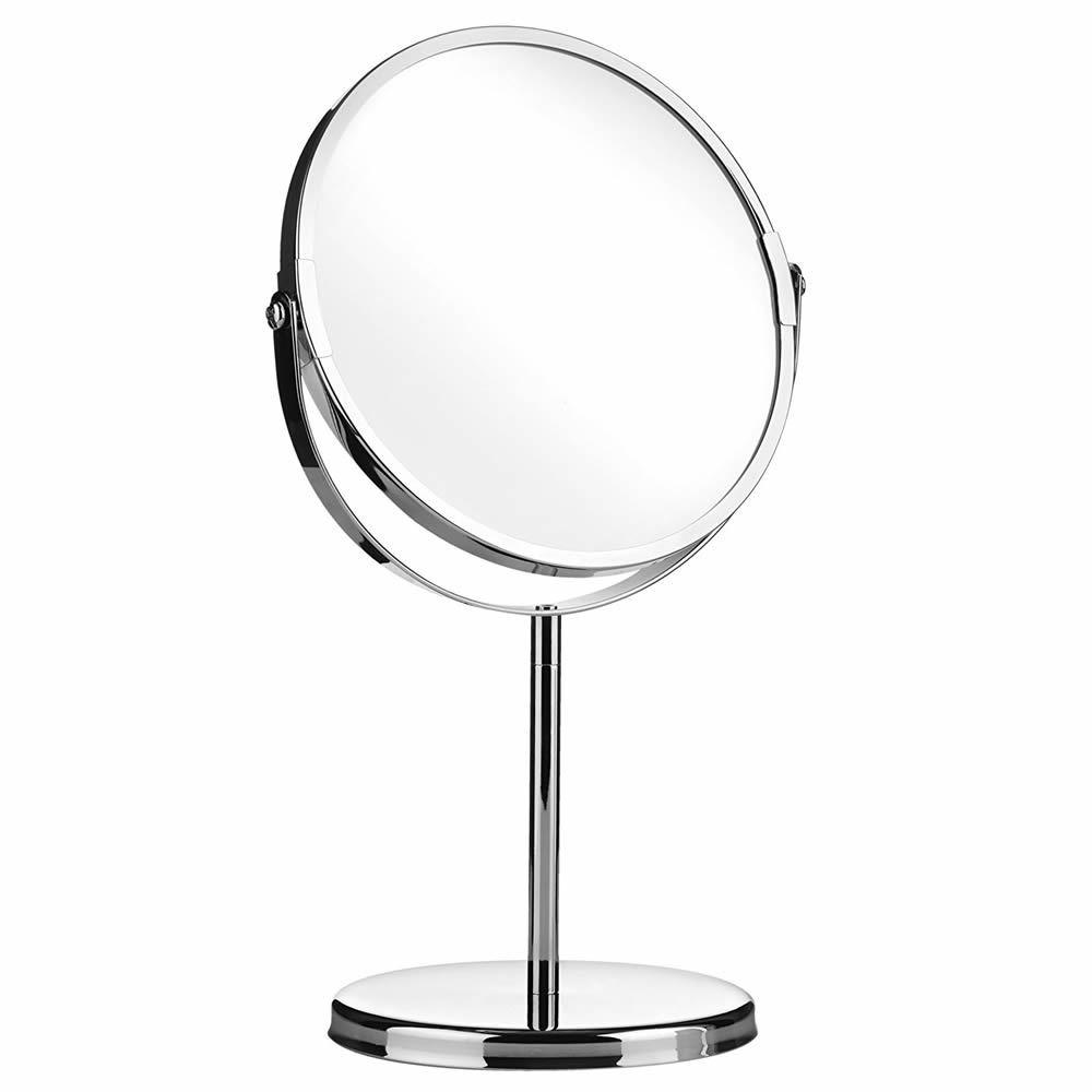 Makeup Cosmetic Chrome Pedestal Mirror Bathroom Vanity 2