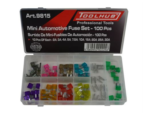 small resolution of tool hub 9815 mini car fuses 2 3 4 5 7 5 10 15 20 25 30 amp 100 piece set