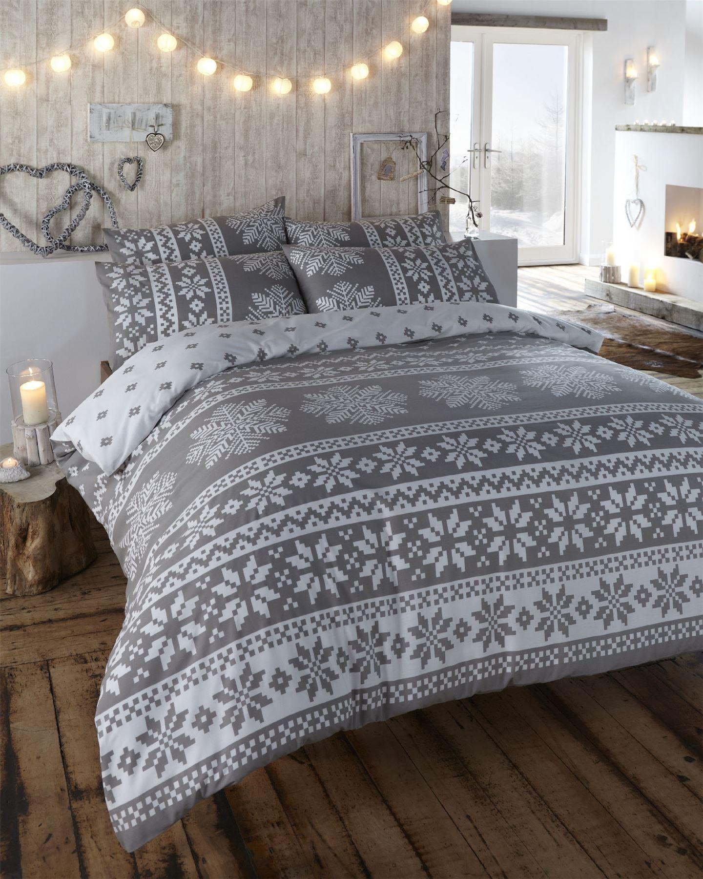 Nordic Fair Isle Scandinavian Winter Duvet Quilt Cover