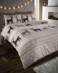 Stag Deer Winter Christmas Duvet Quilt Cover Bedding Set ...