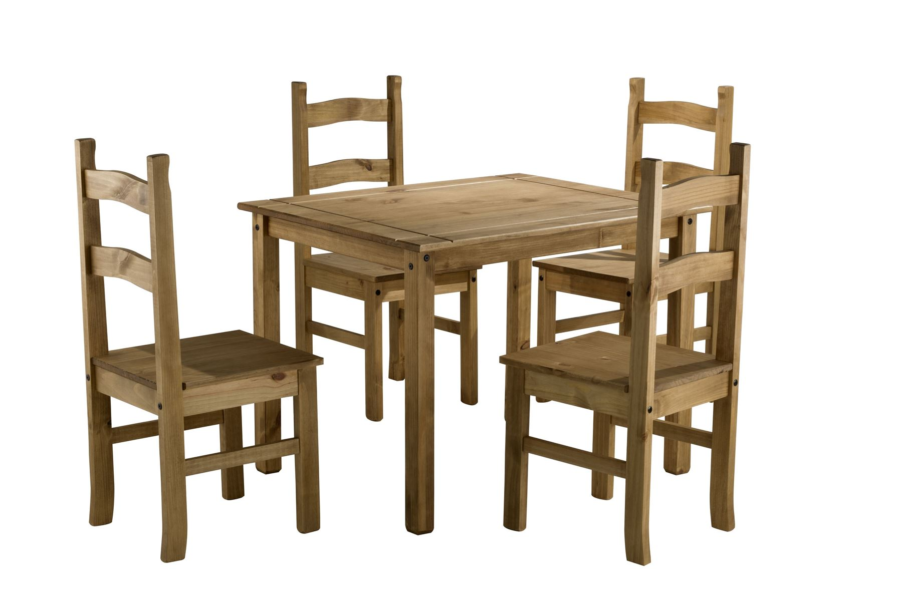 mexican dining room table and chairs black spindle chair corona small pine 4 solid
