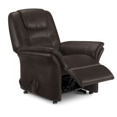 Faux Leather Recliner Chair Large Covers Riva Electric Brown New Ebay