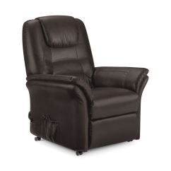 Faux Leather Recliner Chair High Back Gaming Riva Electric Brown New Ebay