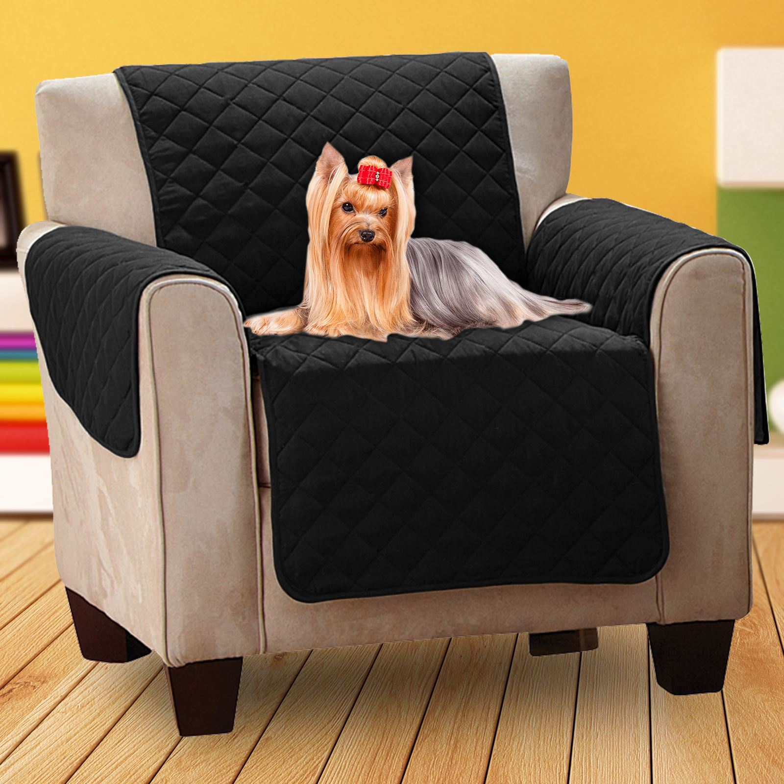 Luxury Quilted Pet Sofa Cover Water Resistant Chair