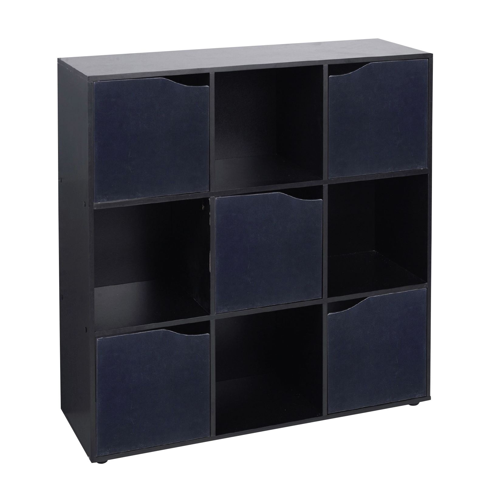 Wooden 9 Cube 5 Doors Storage Unit Cupboard Bookcase