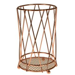 Copper Kitchen Utensil Holder Sideboard Accessory Fruit Basket Roll