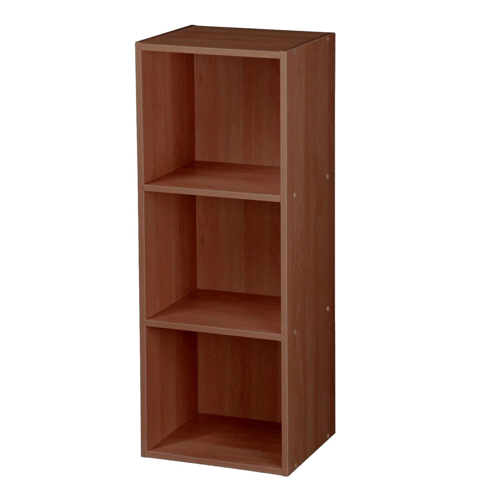 Wooden Cube 2 3 4 Tier Storage Unit Strong Bookcase