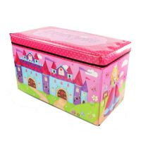 Kids Childrens Large Padded Toy Storage Box Boys Girls