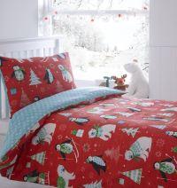 Kids Christmas Bedding Duvet Cover Bright Colourful ...