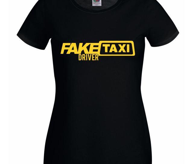 Ladies Black Funny Female Fake Taxi Driver T Shirt Womens Printed Tshirt Uk