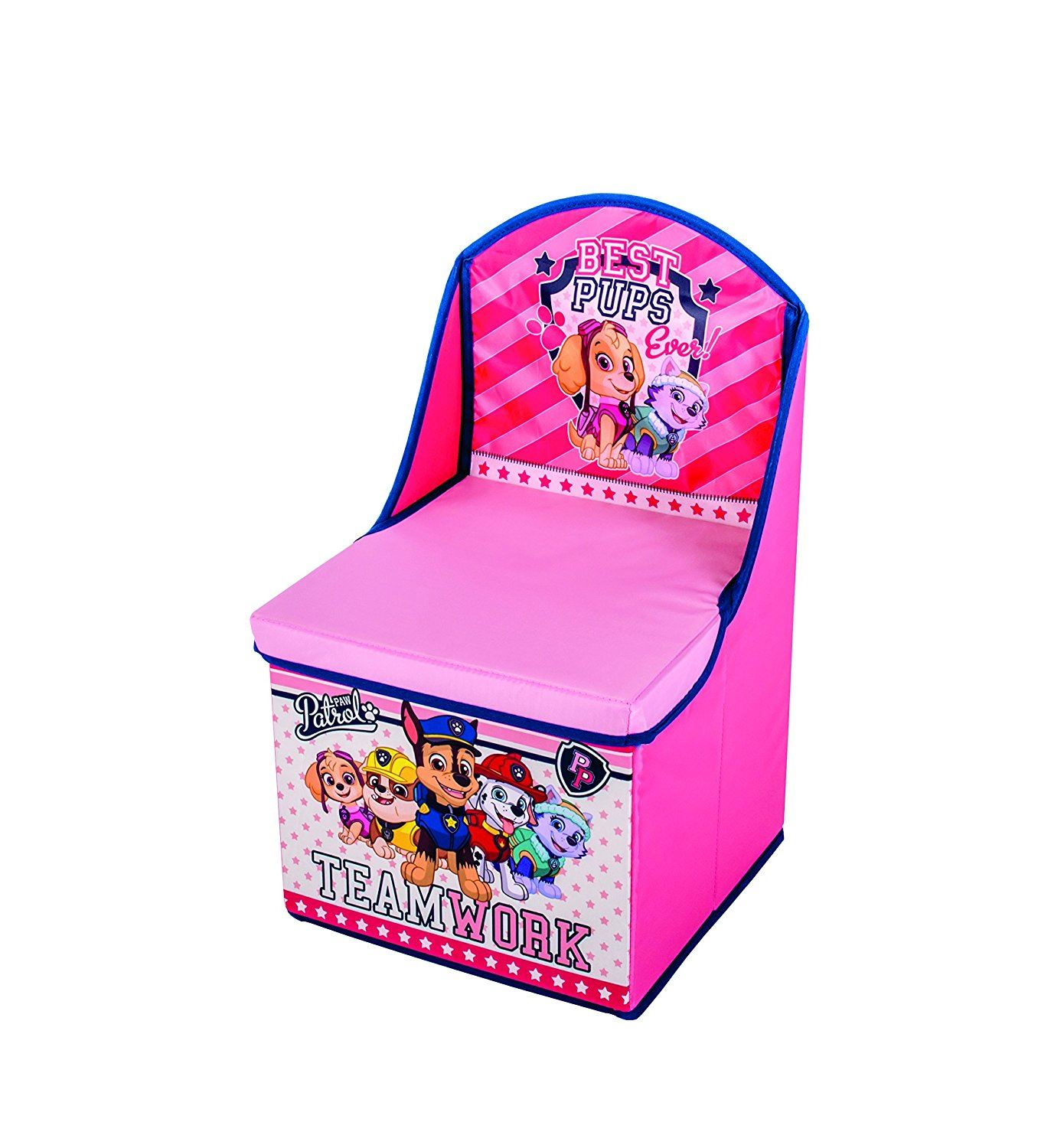 children s pop up chairs reclining rocking chair with ottoman paw patrol toys foldable storage box chest