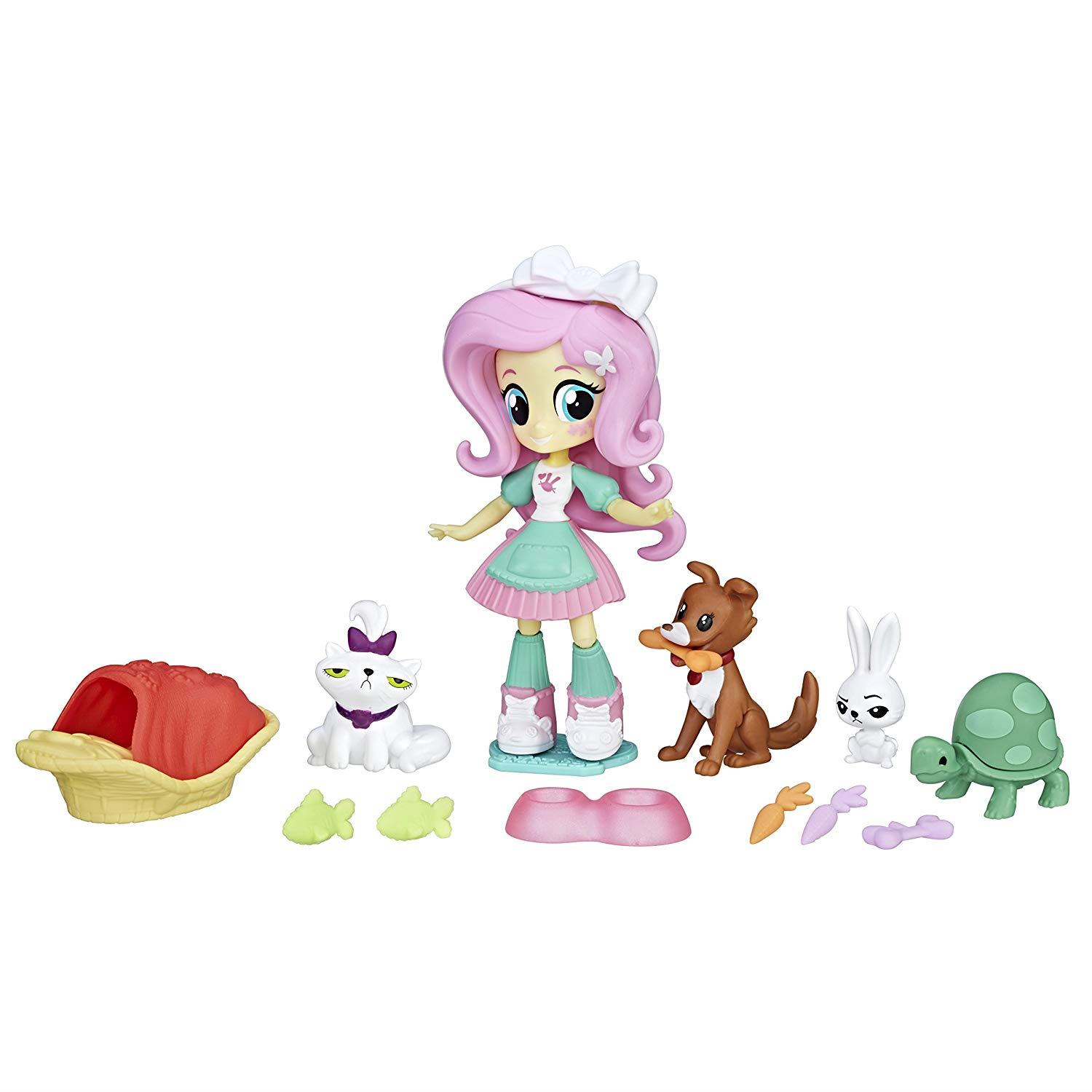 My Little Pony B9495es0 Equestria Girls Fluttershy Pet Spa Set 5010993390489 Ebay