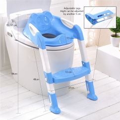 Stool Chair For Toilet Eileen Gray Baby Toddler Training Potty Seat 2 Step Ladder