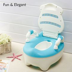 Potty Chair Large Child Orange Rattan Baby Toddler Toilet Training Seat 2 Step Ladder