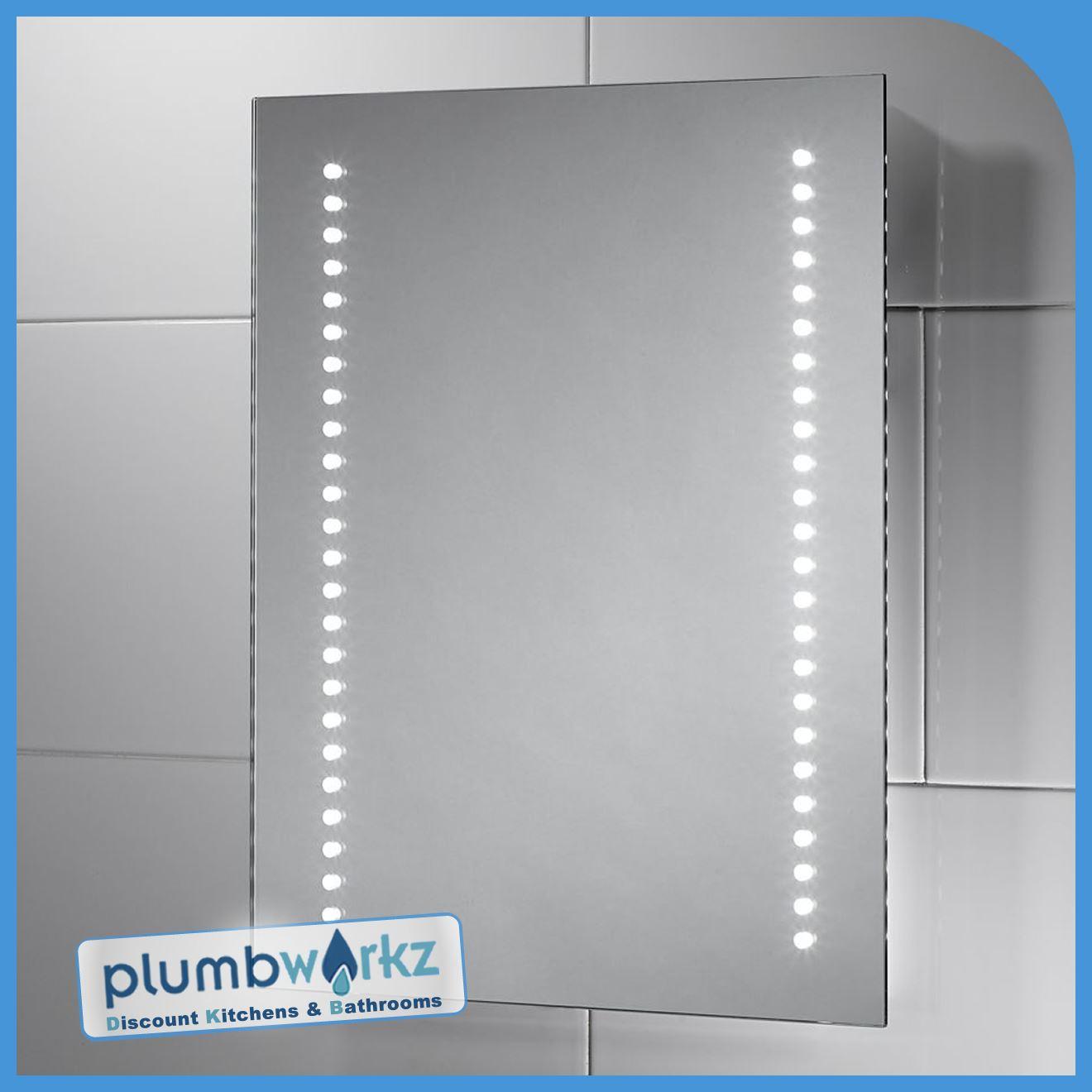 Modern Led Illuminated Bathroom Mirror Bluetooth Demister