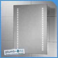 Modern Led Illuminated Bathroom Mirror Bluetooth Demister