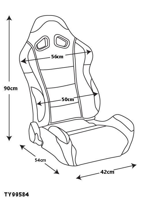 Raptor 4x4 Tyrex Sports Seat Kit Black Faux Leather Land