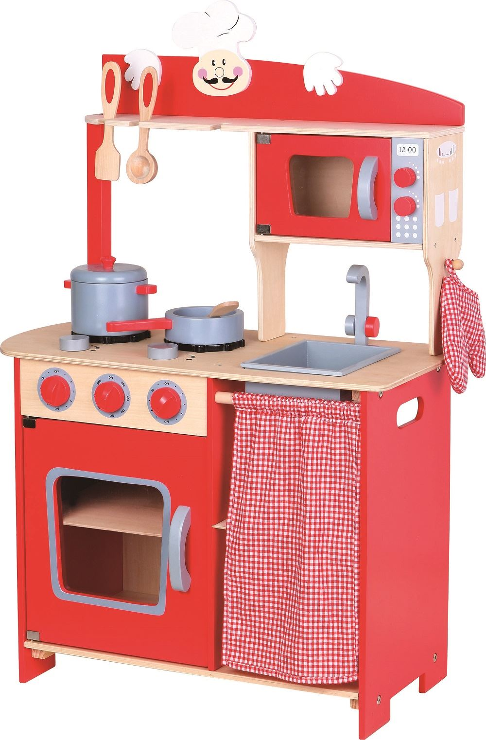childrens play kitchens blue kitchen cabinets lelin wooden wood kids pretend saffron sentinel cooking oven toy