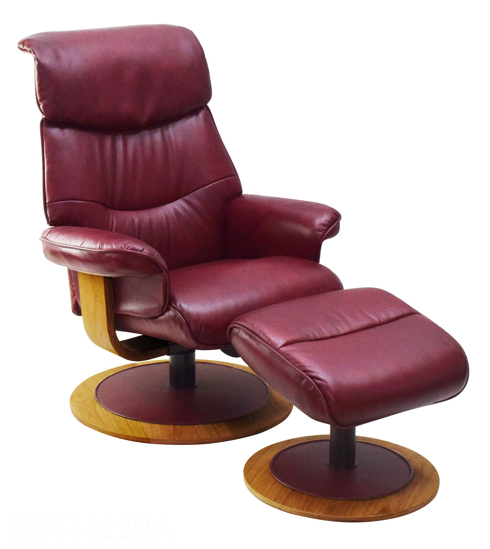 Red Leather Swivel Chair Details About The Chartwell Leather Swivel Recliner Chair Matching Footstool In Ruby Red