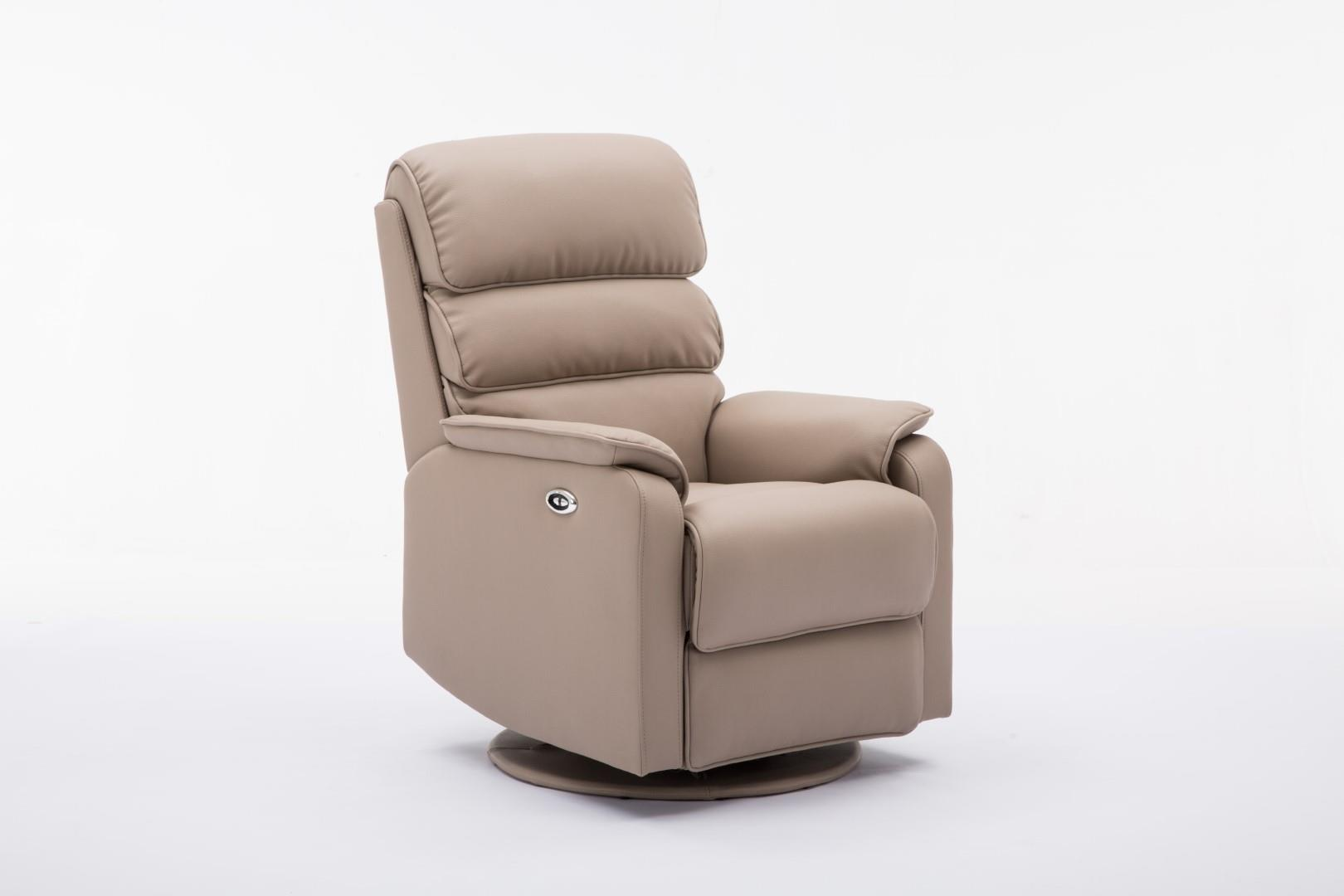Swivel Recliner Chairs Details About Valencia Electric Swivel Recliner Chair In Soft Plush Faux Leather Pebble