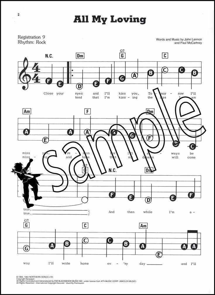 Love Songs of The Beatles E-Z Play Today Sheet Music Book
