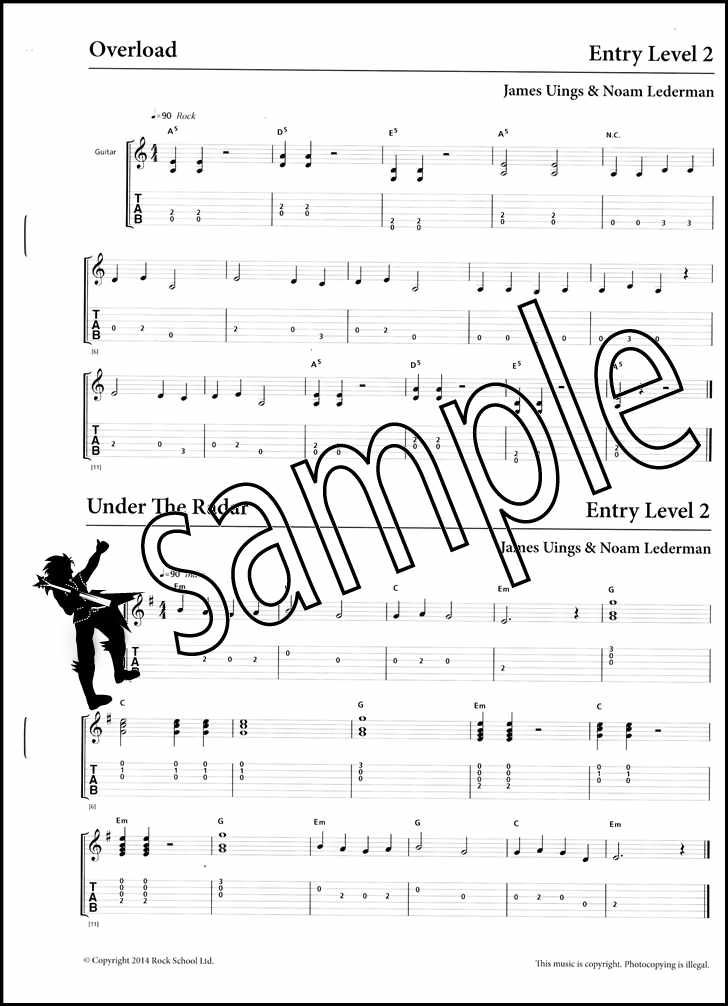 Rockschool Play in a Rock Band TAB Music Book with Audio