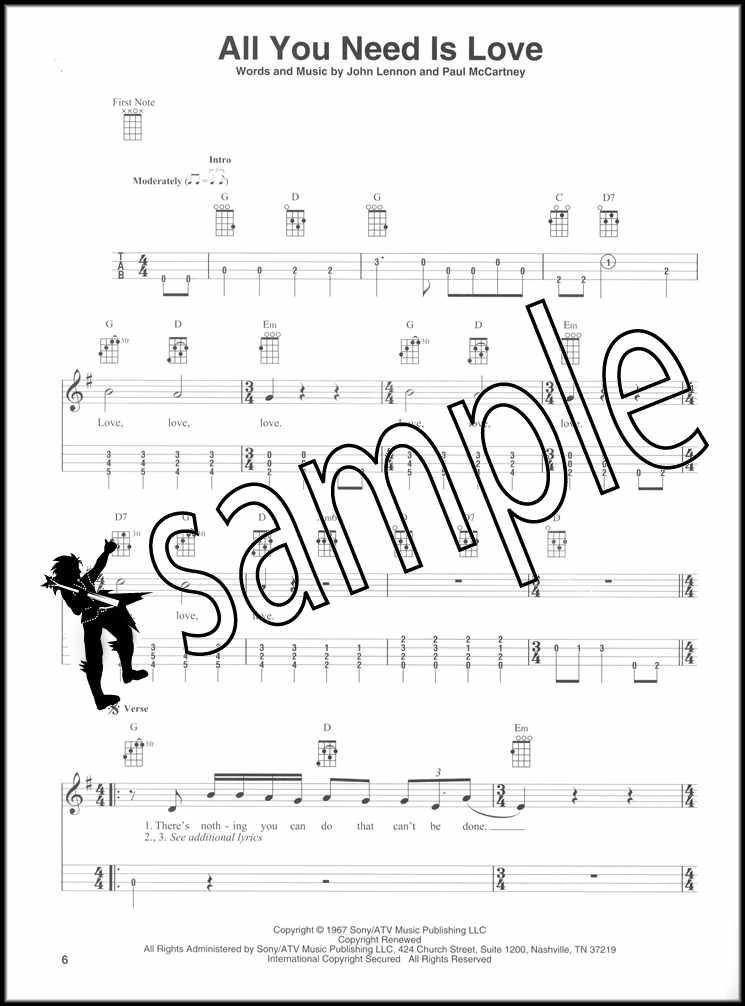 The Beatles for Baritone Ukulele Chord & Melody Songbook