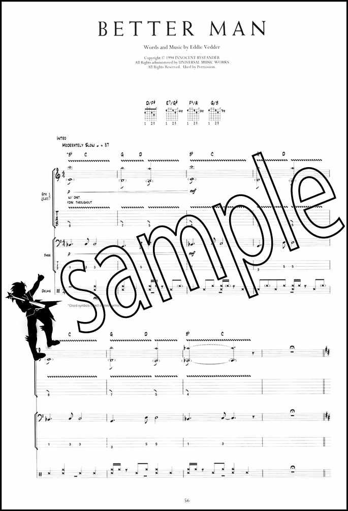 Pearl Jam Anthology The Complete Scores Guitar TAB Bass