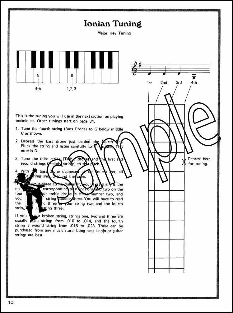 Cripple Creek Appalachian Dulcimer Sheet Music Book with