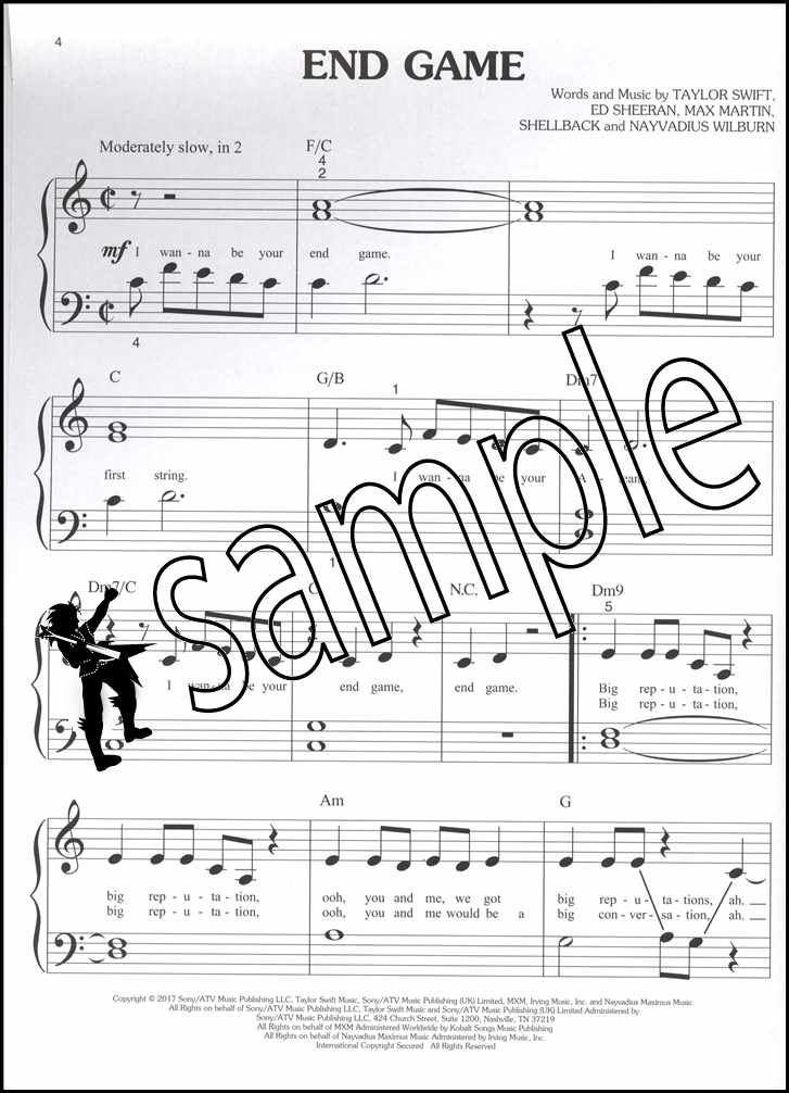 Chart Hits of 2017-2018 Big-Note Piano Sheet Music Book Ed